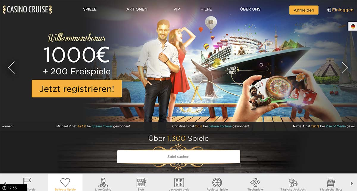 Casino Cruise Homepage